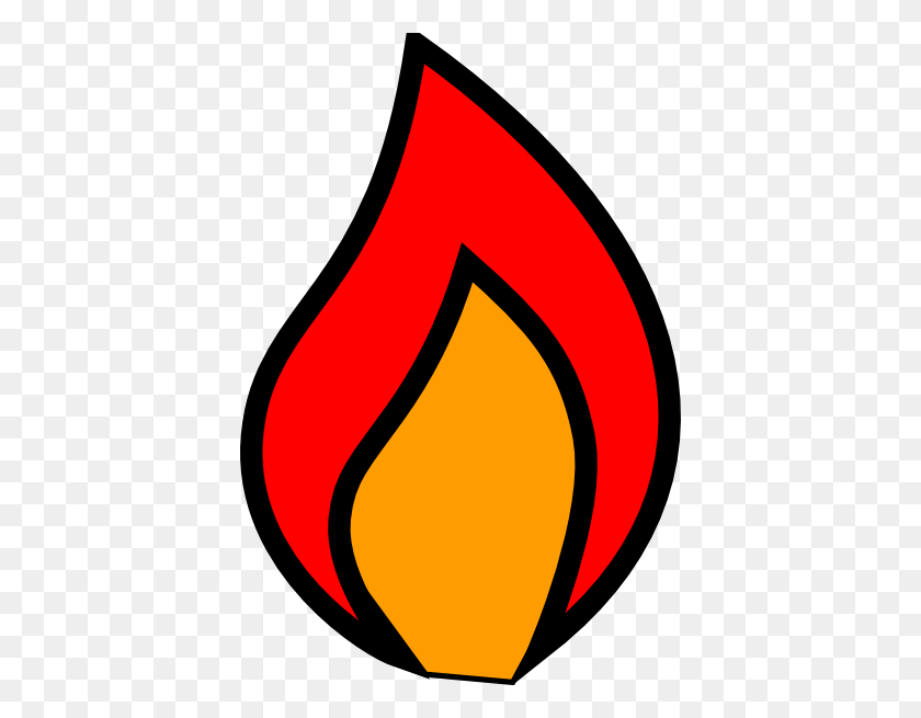 Red Flame Clipart - Fire Ladder Clipart