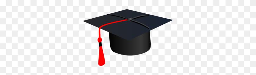 Red Grad Cap Clip Art - Red Graduation Cap Clipart