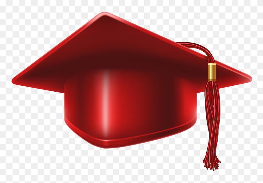 Red Graduation Cap Clip Art Image - Red Graduation Cap Clipart