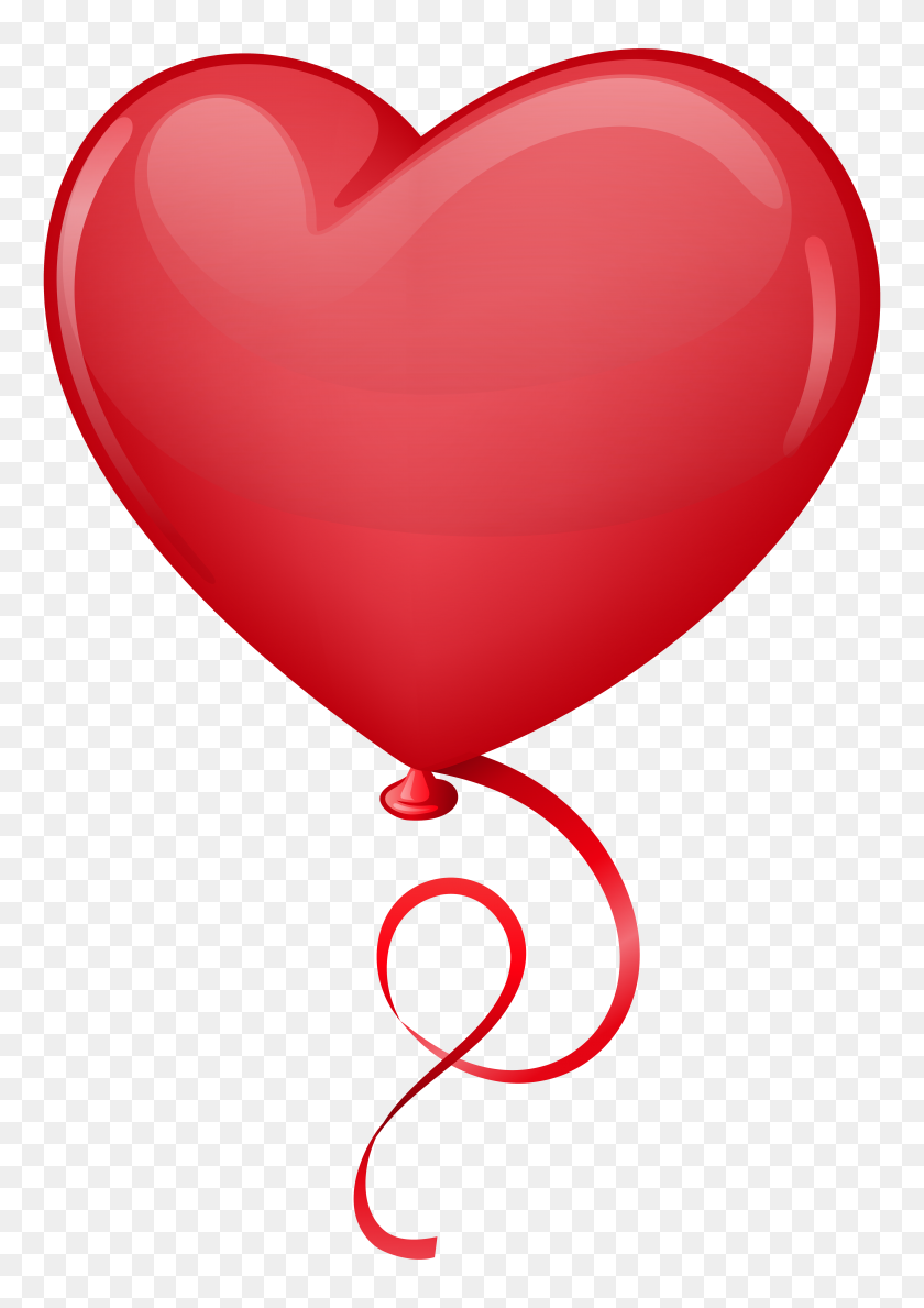 5526x8000 Red Heart Balloon Clip Art Png - S Clipart