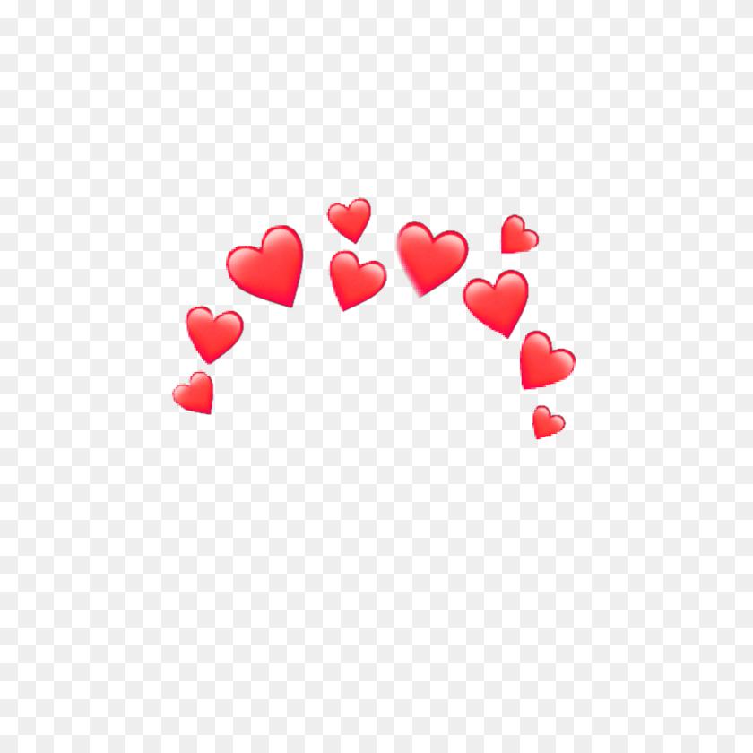 Red Heart Heartcrown Crown Emoji Iphone Random - Red Heart Emoji PNG