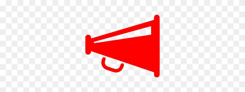 256x256 Red Megaphone Icon - Megaphone Clipart Free