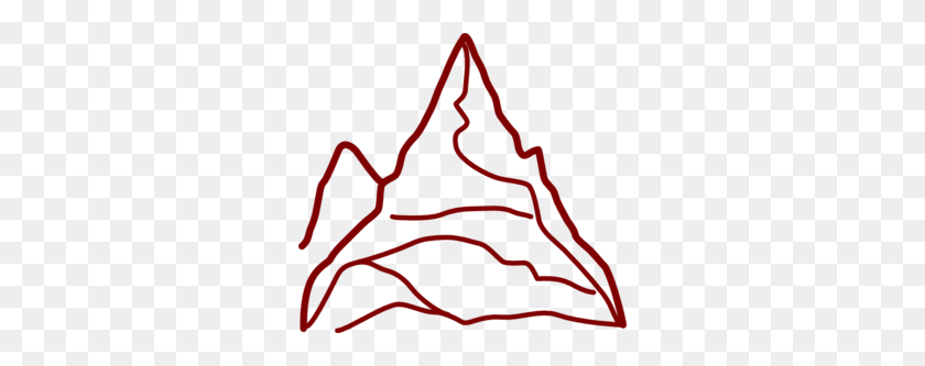 Red Mountain Clip Art - Mountains Clipart PNG