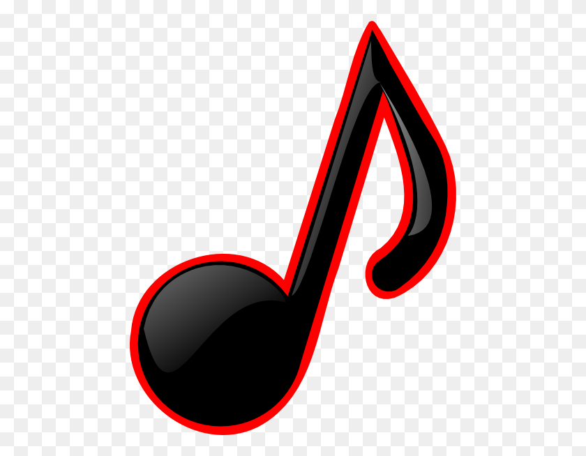 Red Music Notes Clip Art - Whole Note Clip Art