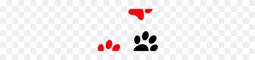 Red Paw Print Red Paw Print Red Panther Paw Clipart Clip Art - Panther Clipart
