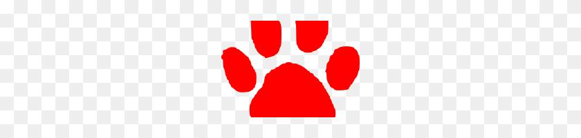 Red Paw Print Red Paw Print Red Panther Paw Clipart Clip Art - Panther Paw Clipart