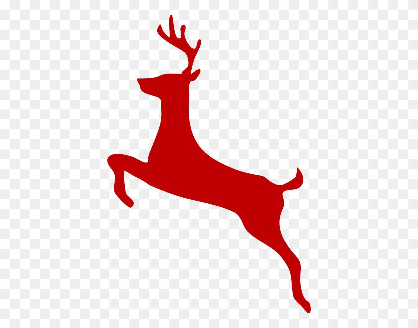 Red Reindeer Clip Art - Reindeer Antlers Clipart