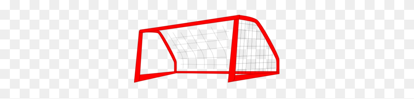 Red Soccer Goal Net, Enlarged Clip Art - Net Clipart