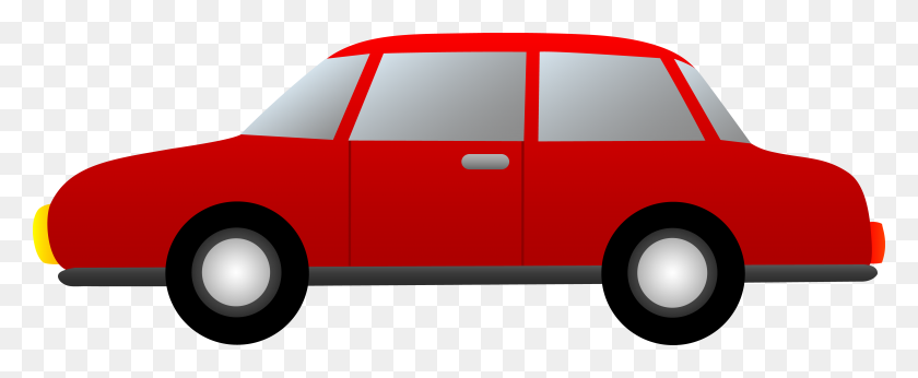 Red Sports Car Clipart - Red Car PNG