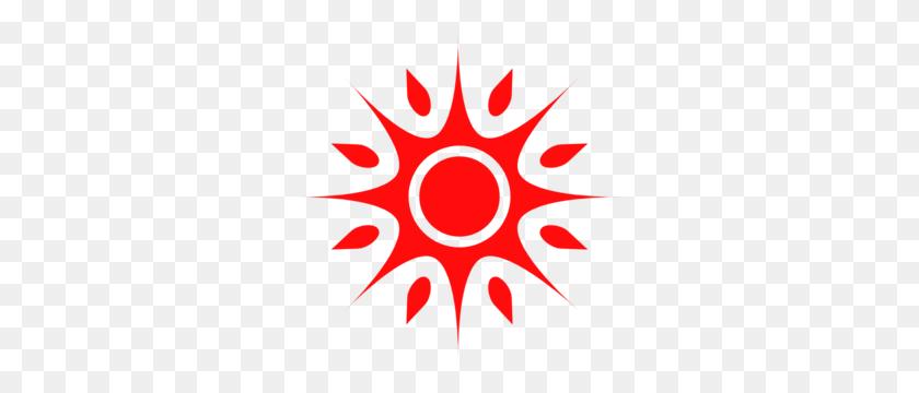 Red Sun Md Half Sun Clip Art - Half Sun Clipart