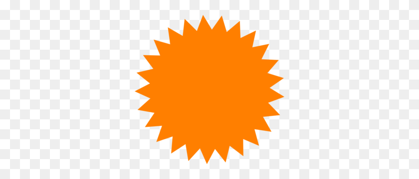 Red Sun Star Clip Art - Star PNG Image