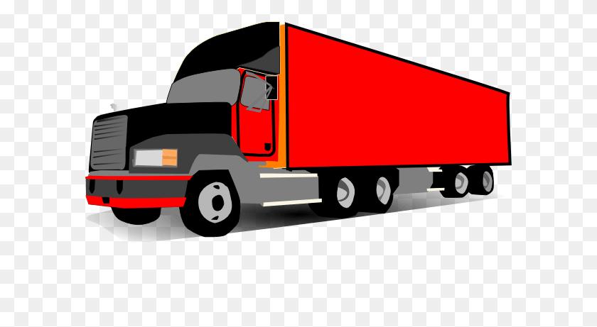 Red Truck Cliparts - Semi Truck Clipart