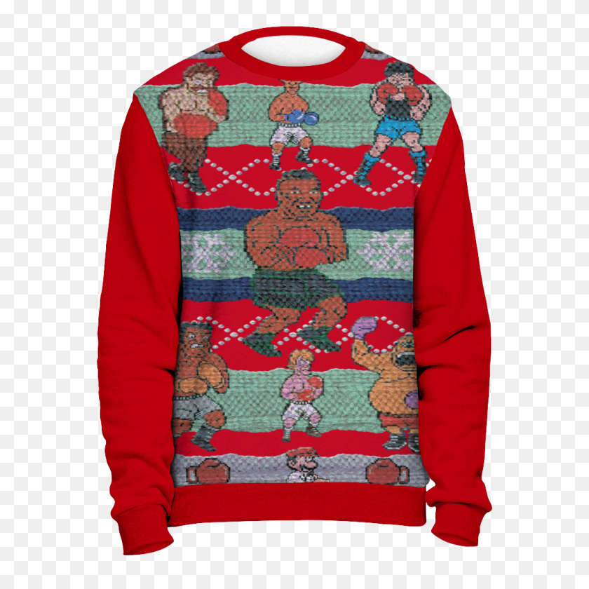 reputable site 5c76f f1f75 Red Tyson Punchout Inspired Ugly Christmas Sweatshirt - Ugly ...