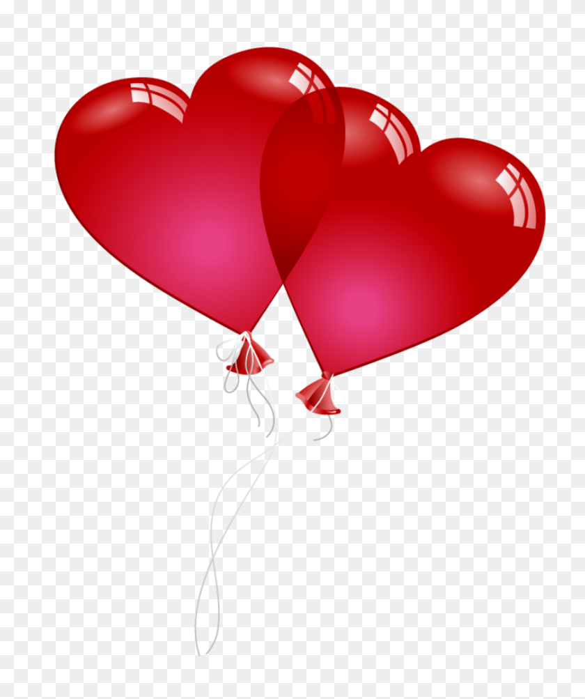 Red Valentine Heart Baloons Png Clipart Gallery - Valentine Heart PNG