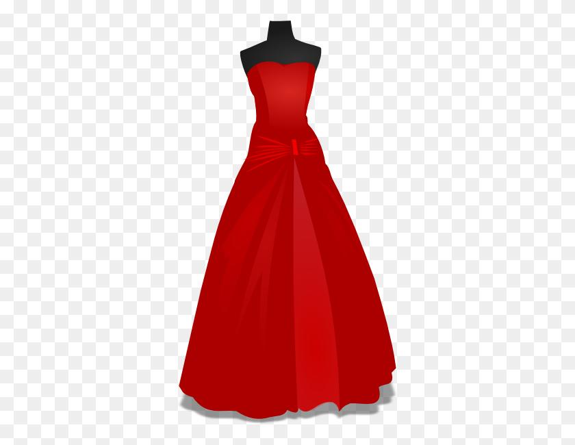 Red Wedding Gown Clip Art - Prom Dress Clip Art