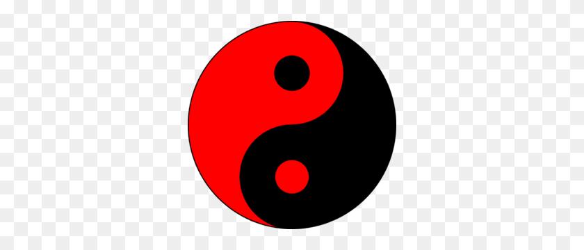 Redlack Ying Yang Clip Art - Yin And Yang PNG