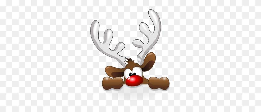 Reindeer Head Clip Art - Reindeer Head Clipart