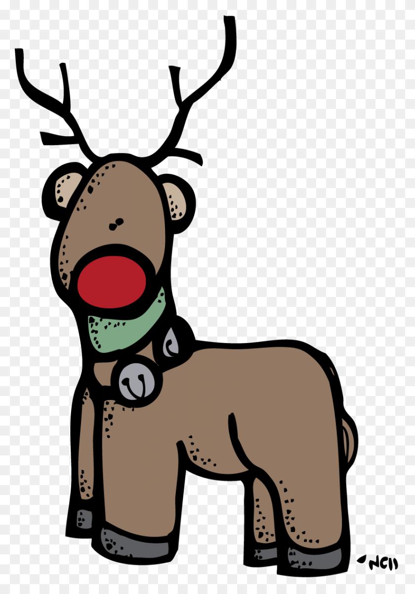 Reindeer Melonheadz Clip Art Free Image - Reindeer Antlers Clipart