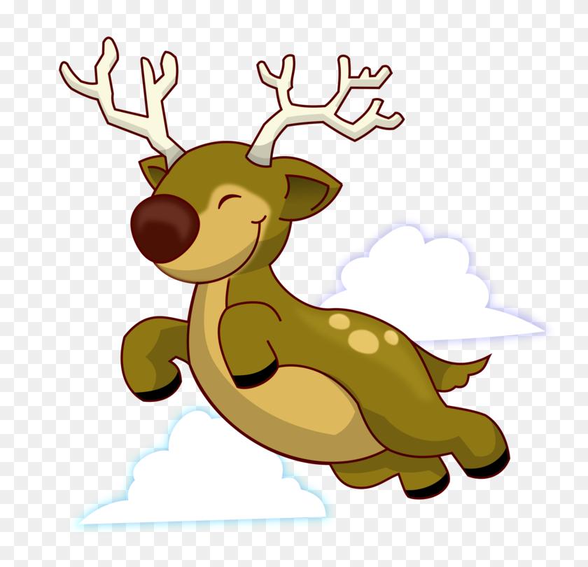 Reindeer Rudolph Santa Claus Christmas - Rudolph Clipart