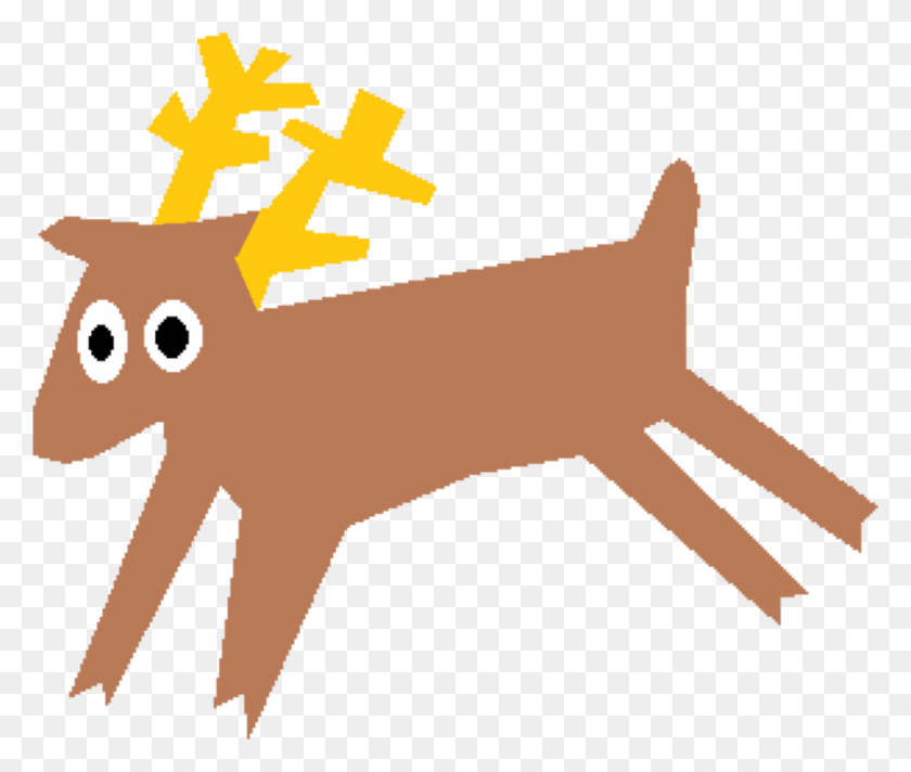 Reindeer White Tailed Deer Moose Musk Deers - Moose Antlers Clipart