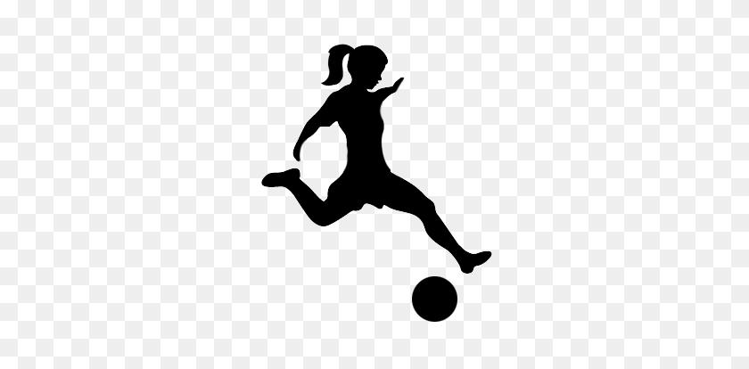 Reservations - Girl Kicking Soccer Ball Clip Art