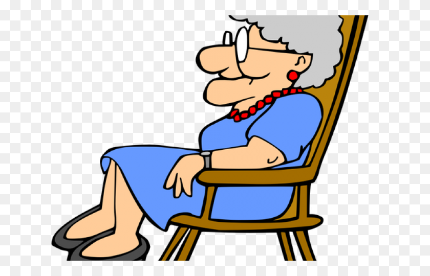 640x480 Resting Clipart Grandma - Grandmother Clipart