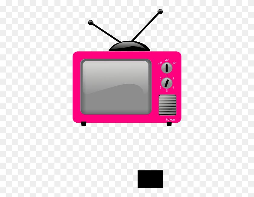 Retro Tv Set In Blue With Tv On Screen Clip Art - Retro Tv Clipart