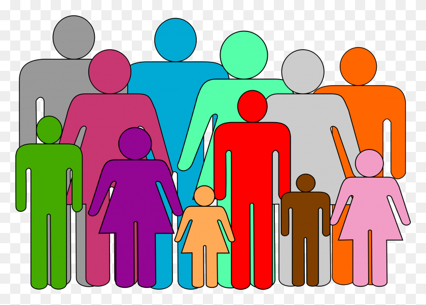 Reunite Clipart Group With Items - Group Of People Clipart