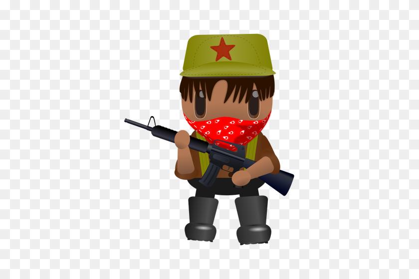 Revolutionary Soldier With A Gun - Revolutionary War Clipart