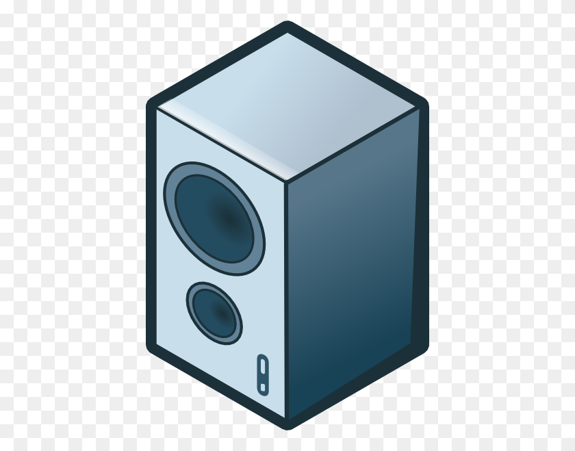 414x599 Rg Isometric Loudspeaker Clip Art - Loudspeaker Clipart