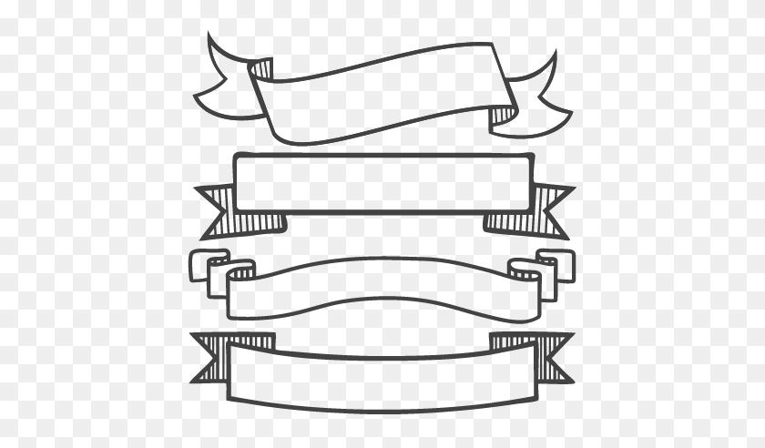 Banner Ribbon Scroll Clipart - Straight Ribbon Clipart ...