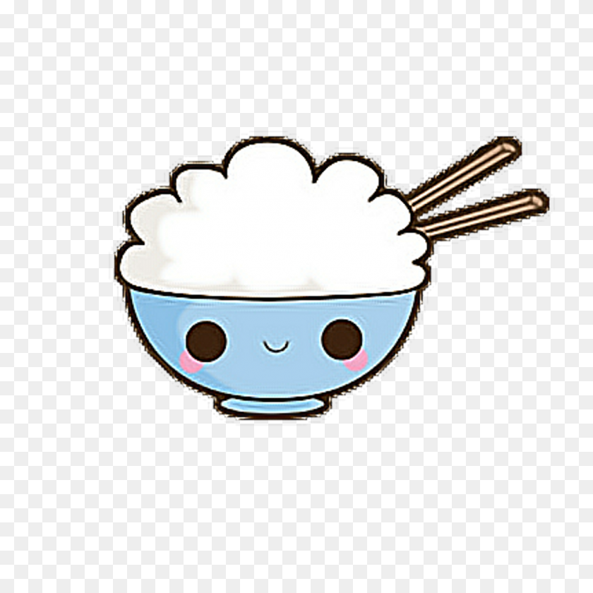 Rice Clipart Kawaii - Rice Bowl Clipart