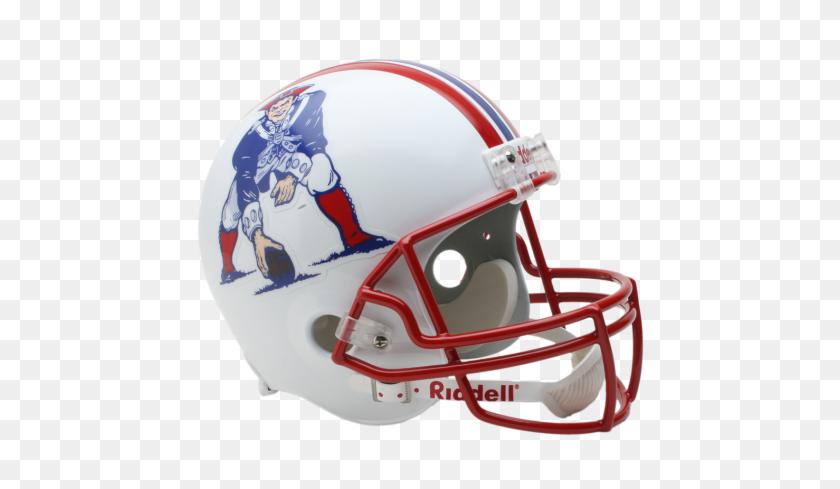 Riddell Nfl Full Size Throw Back Deluxe Replica Helmet - Patriots Helmet PNG