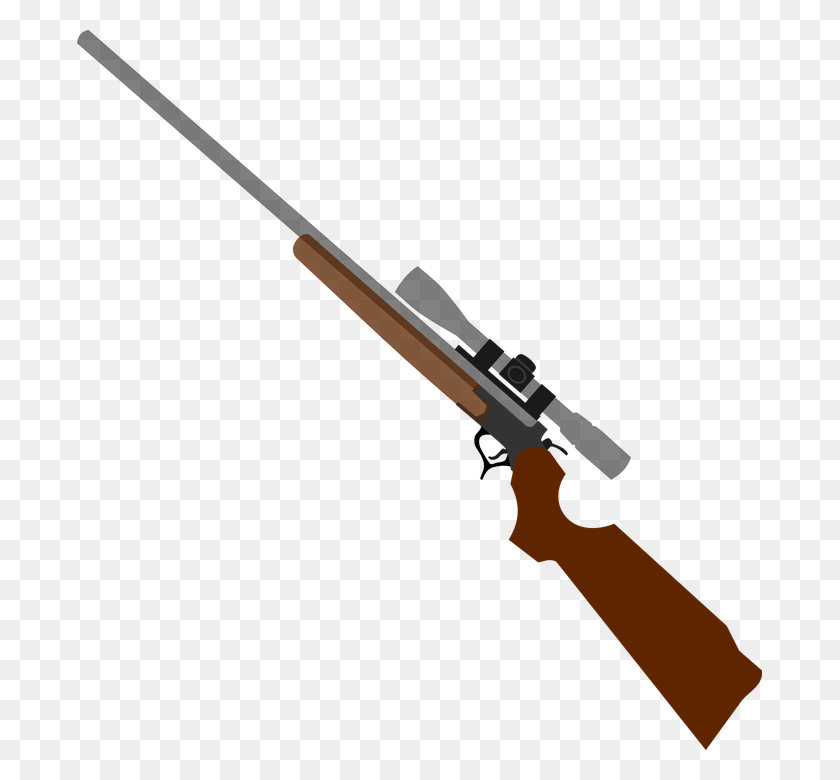 685x720 Rifle Clipart Png - Saber Clipart