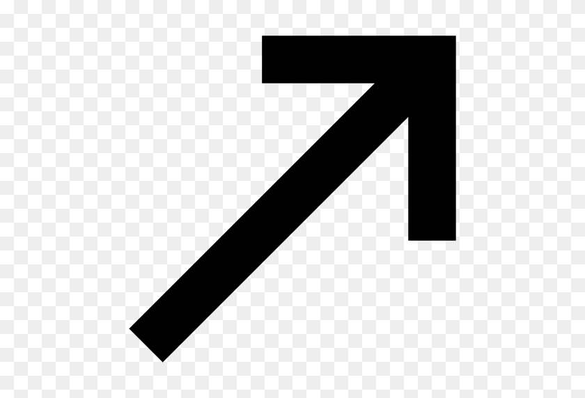 512x512 Right Corner Arrow Sign - Arrow Sign PNG