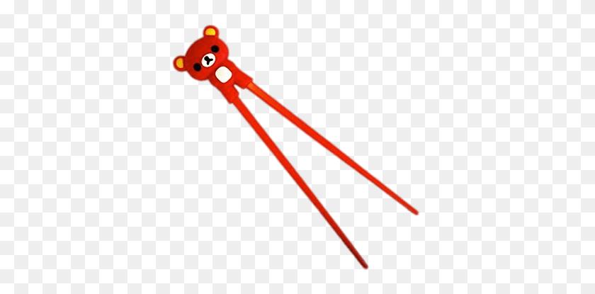 Rilakkuma Bear Holder On Chopsticks Png - Chopstick PNG