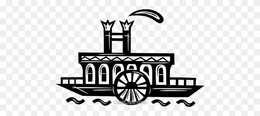 Riverboat Royalty Free Vector Clip Art Illustration - Riverboat Clipart