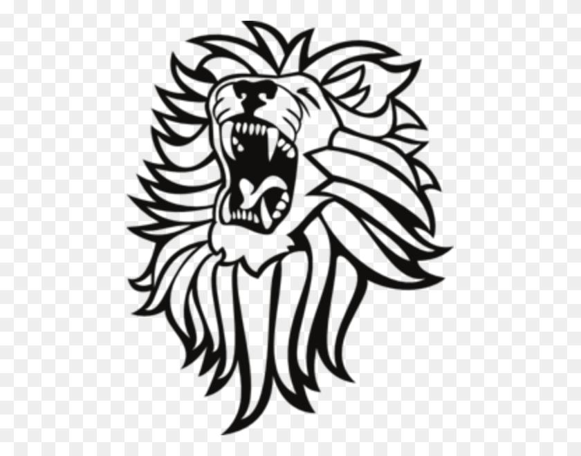 Lion fish in black and white   Public domain vectors
