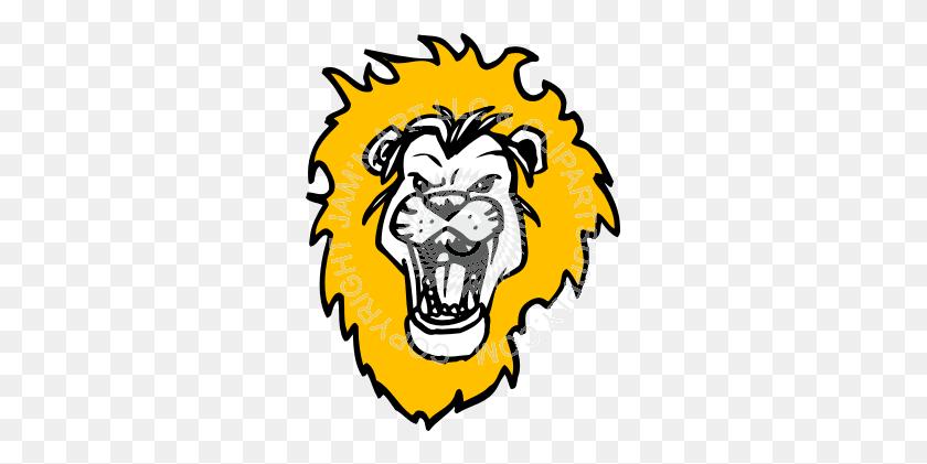 Roaring Lion Head Clip Art - Roaring 20s Clipart