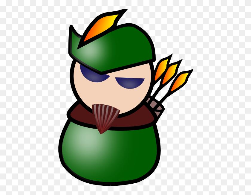 Robin Hood Avatar Clip Art - Robin Superhero Clipart