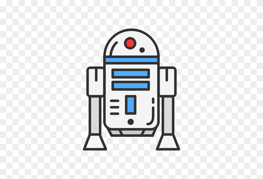 Robot, Starwars Icon - R2d2 PNG