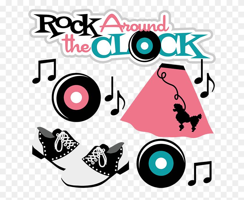 Rock Around The Clock Scrapbook Cute Cuts Cute Cute - Sock Hop Clip Art