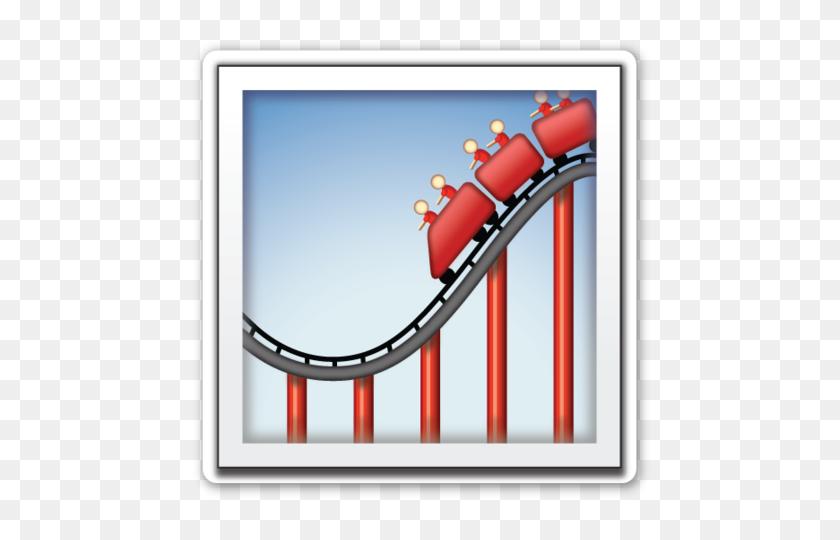Roller Coaster Clip Art Emoji Stickers, Roller - Roller Coaster Clipart