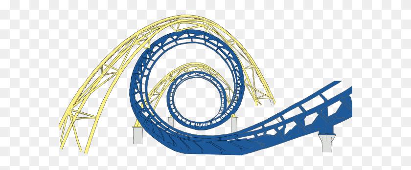 Roller Coaster Tracks Clip Art - Roller Coaster Car Clipart
