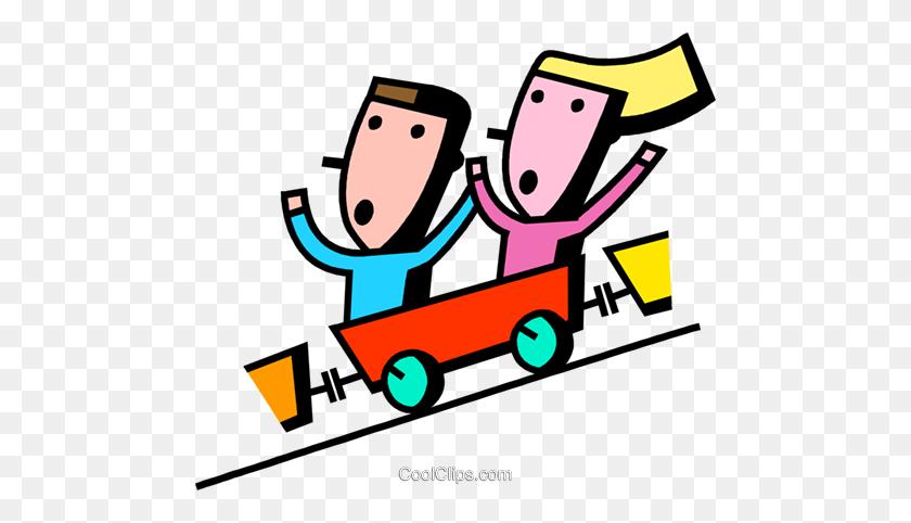 Roller Coasters Royalty Free Vector Clip Art Illustration - Roller Coaster Clipart