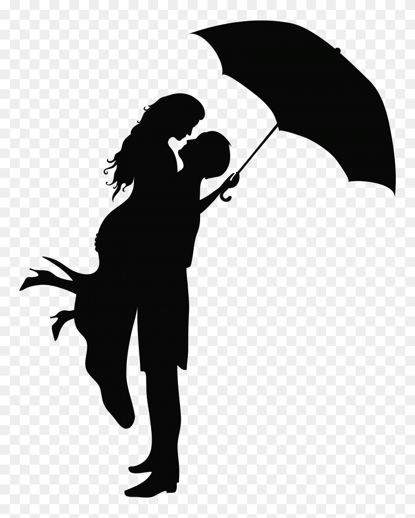 Romantic Couple Silhouettes Png Clip Art Gallery - Romantic Clipart