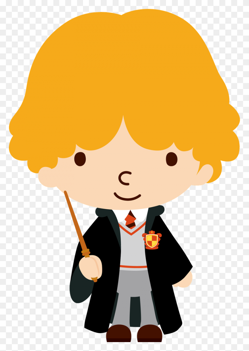Rony Docinho Harry Potter Harry Potter, Harry - Hogwarts Clipart