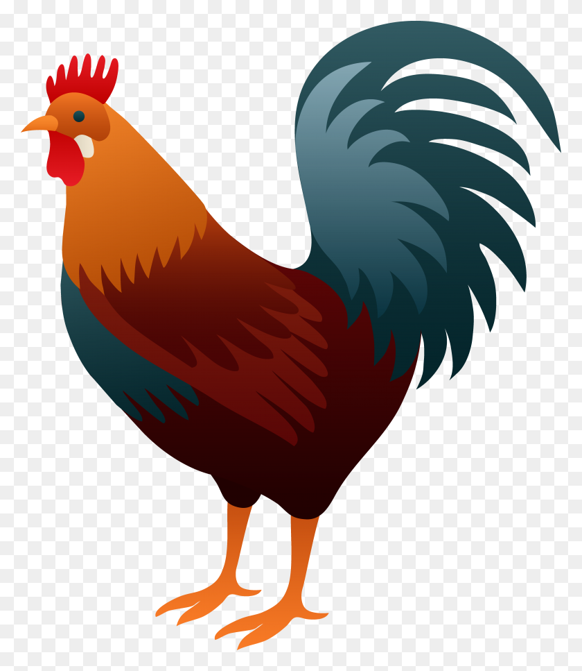 5822x6773 Rooster Clip Art Royalty Free Gograph Regarding Rooster Clipart - Rooster Clipart