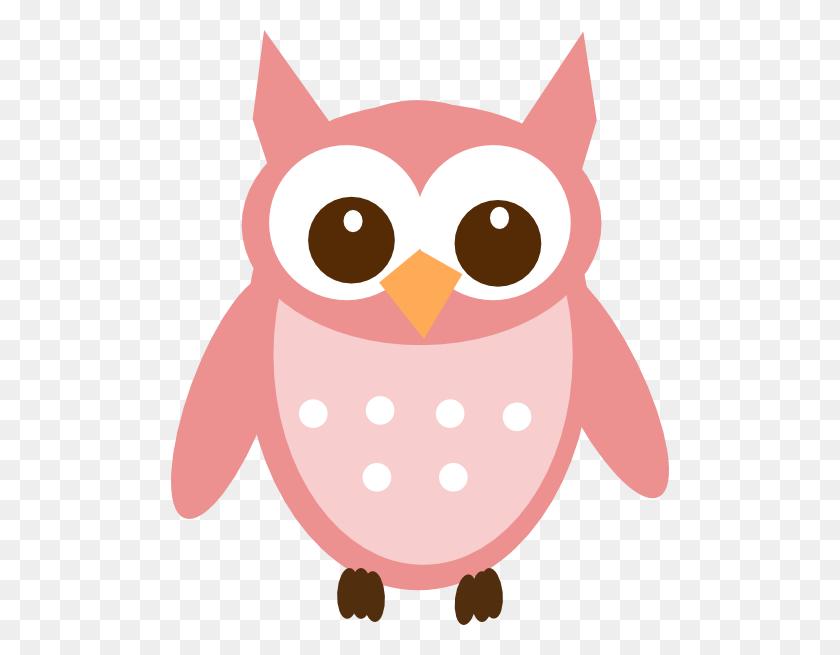 498x595 Rose Pink Owl Clip Art - Pink Owl Clipart
