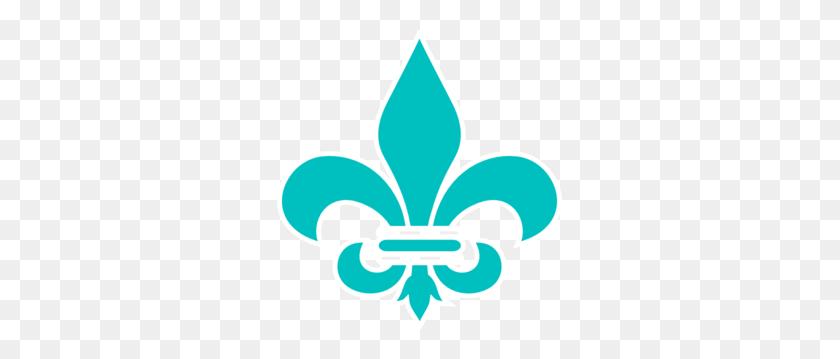 285x299 Royal Blue Fleur De Lis Png, Clip Art For Web - Free Fleur De Lis Clip Art
